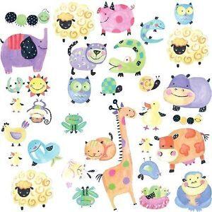 Stickers murali Animali a Pois 33 pezzi