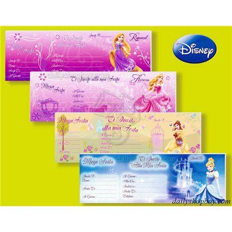 Carnet inviti festa Principesse Disney