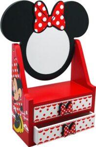 Cassettiera in legno con specchio Minnie
