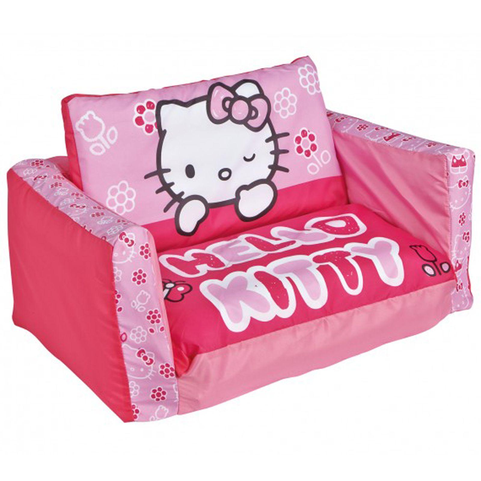 Letti Per Bambini Hello Kitty.Divanetto Letto Gonfiabile Hello Kitty Complementi D Arredo
