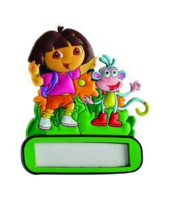 Targa nome adesiva Dora l'Esploratrice