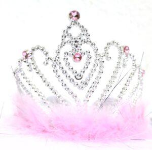 Tiara con piume Principessa