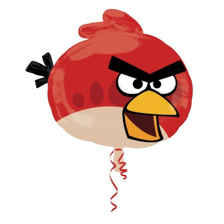 Palloncino in mylar Red Bird Angry Birds