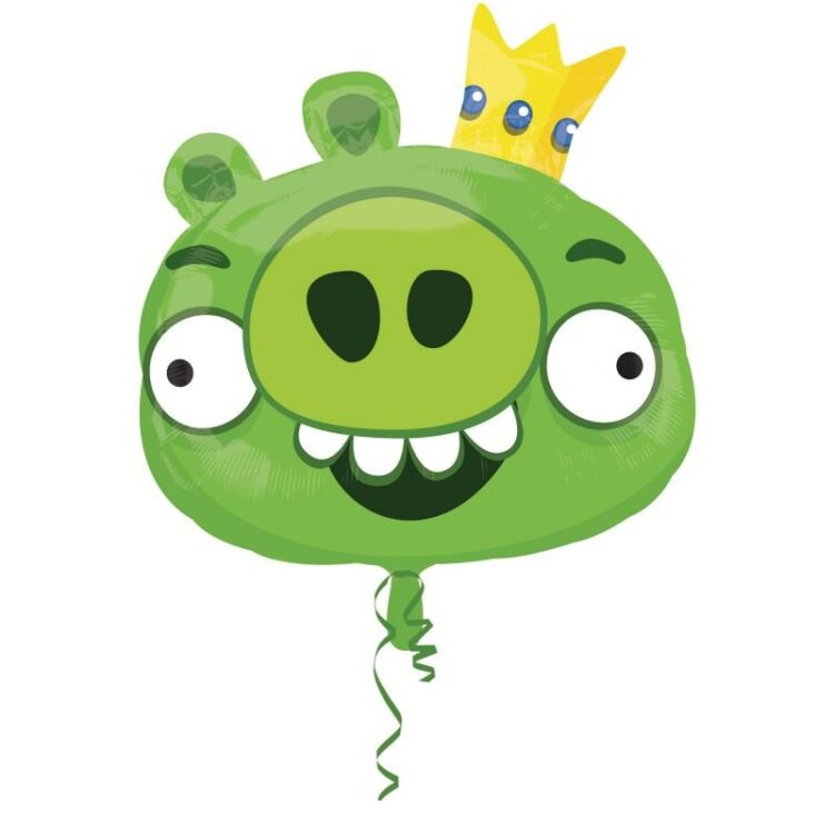 Palloncino in mylar King Pig Angry Birds