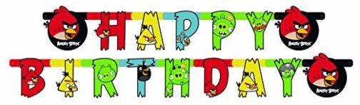 "Festone ""Happy Birthday"" Angry Birds"
