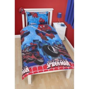 Parure copripiumino singolo reversibile Spiderman City