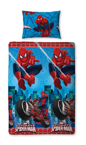 Parure copripiumino singolo reversibile Spiderman City