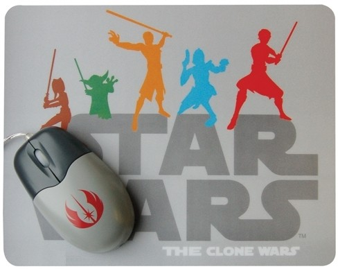 Set mouse più tappetino Star Wars The Clone Wars
