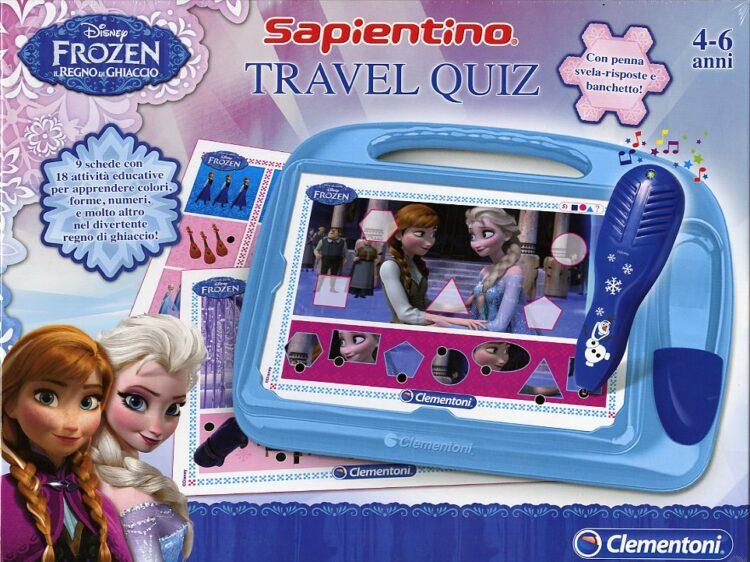 Sapientino Travel Quiz Disney Frozen