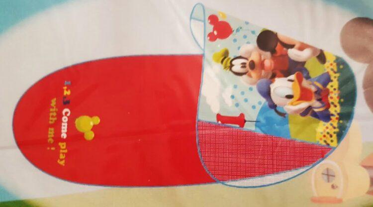 Disney Topolino Tappetino richiudibile per il mare con parasole