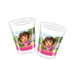Bicchieri per festa Dora l'Esploratrice