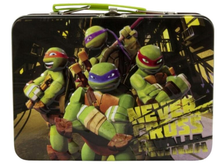 Lunch box in metallo Tartarughe Ninja con sorpresina