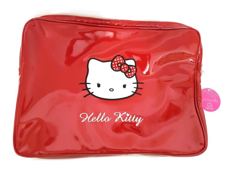 Porta pc notebook Hello Kitty rosso vernice