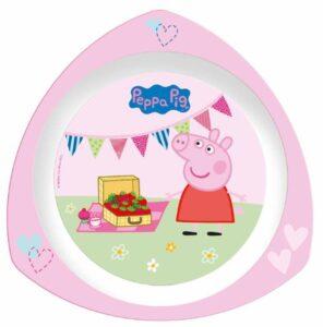 Piatto piano triangolare Tea Party Peppa Pig