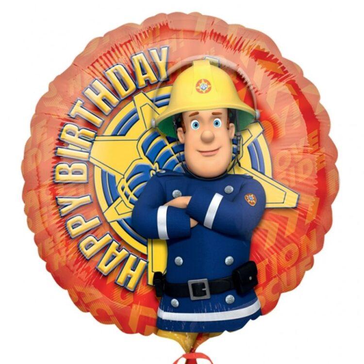 Palloncino Happy Birthday Sam il Pompiere