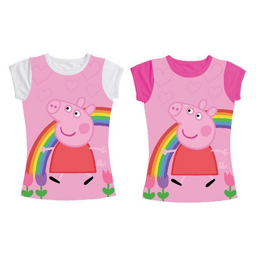 T-Shirt Arcobaleno Peppa Pig