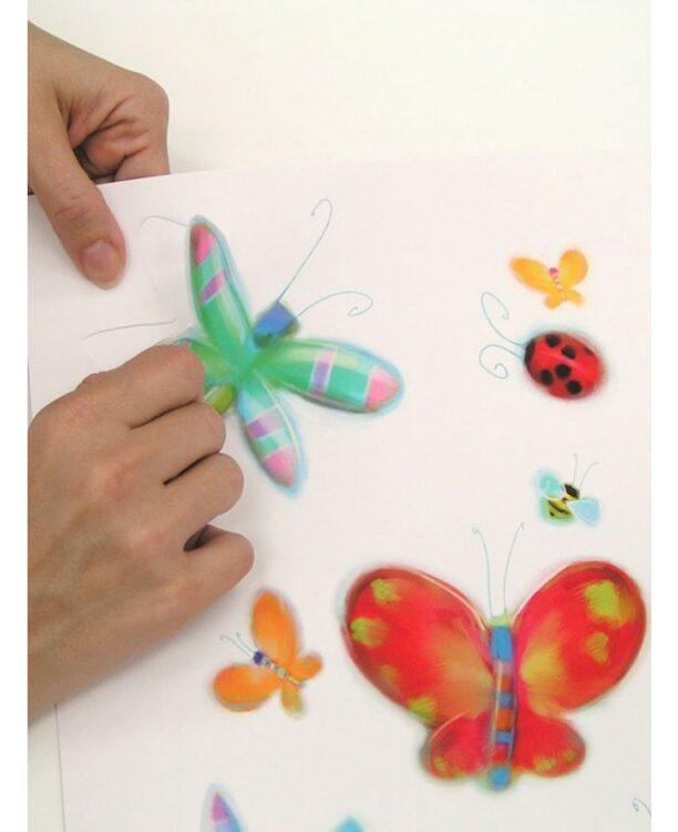 Stickers murali Farfalle e Libellule 58pz