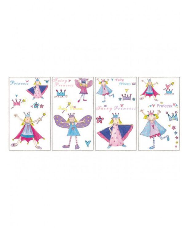 Stickers murali Principesse e Fatine 23 pezzi