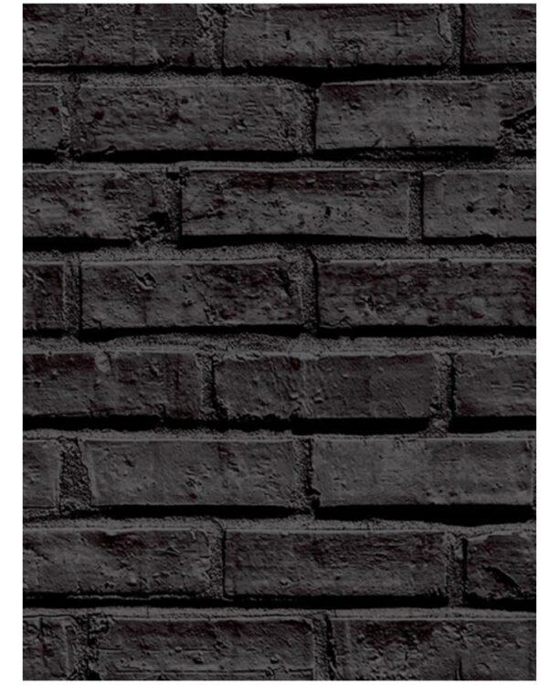 Carta da parati mattoncini neri 10 mt