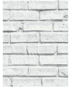 Carta da parati mattoncini bianchi 10 mt