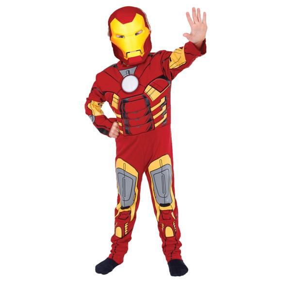 Costume bimbo Iron Man con muscoli