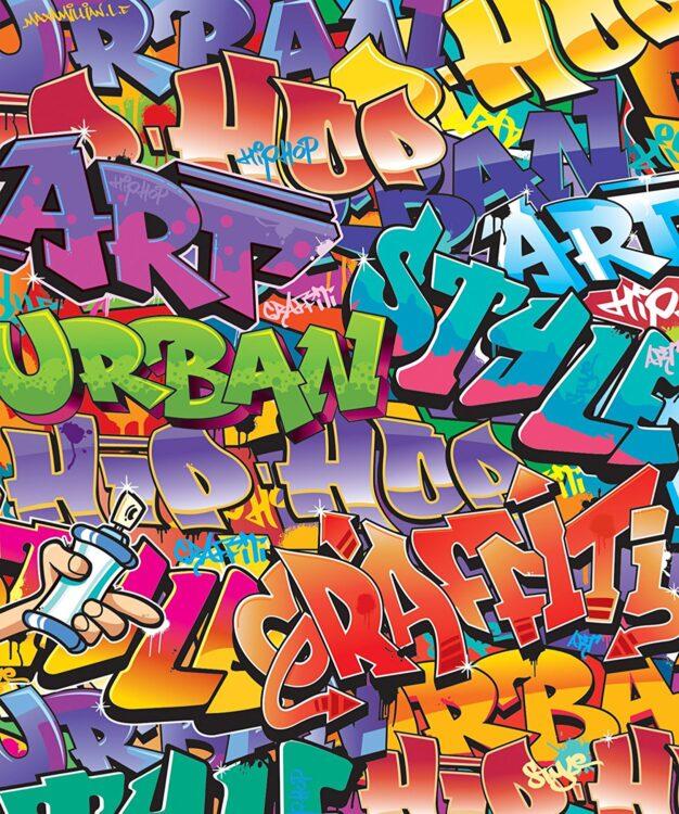 Fotomurale Walltastic Graffiti 243x202