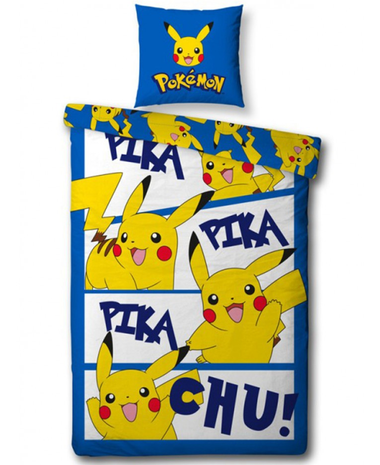 Copripiumino Pokemon.Pokemon Pikachu Parure Copripiumino Singolo Copripiumini E Biancher