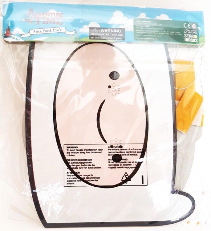 Adventure Time - Confezione 4 mascherine in cartoncino