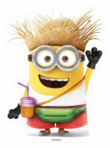 Minions - Sagoma cartonata di Minion vacanziero con drink