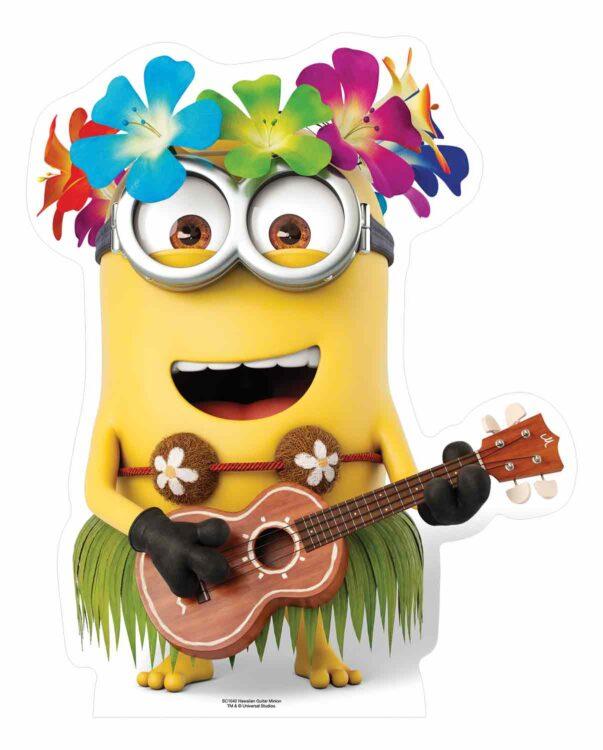 Minions - Sagoma cartonata di Minion hawaiiano con chitarra