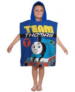Trenino Thomas n. 1 Accappatoio poncho con cappuccio