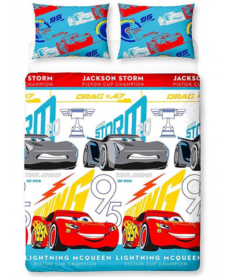 Copripiumino Cars Una Piazza E Mezza.Parure Copripiumino Doppio Disney Cars 3 Copripiumini E Biancheria