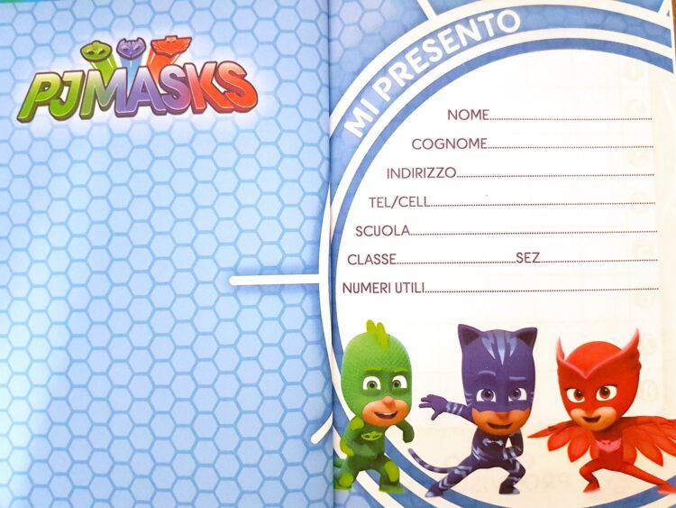 Diario scuola 10 mesi Pj Masks Super Pigiamini