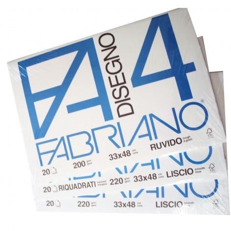 BLOCCO FABRIANO F4 20 FG 33X48 RUVIDO 05000797