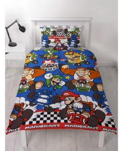 Parure copripiumino singolo Super Mario Kart