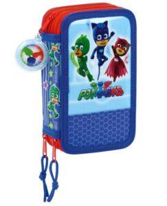 Super Pigiamini Astuccio completo 3 zip Pj Masks