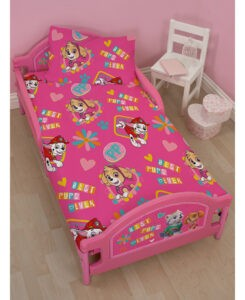 Paw Patrol Lettino rosa Skye ed Everest
