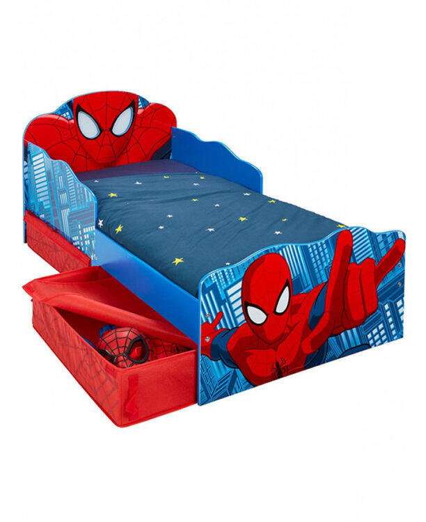 Lettino Spiderman con cassetti