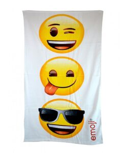 Asciugamano telo mare Emoji