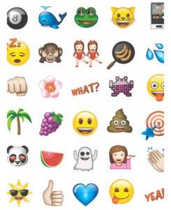 """Carta da parati """"Emoji"""" 10mt"""