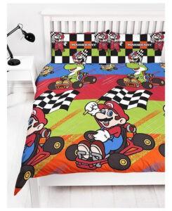 Parure copripiumino matrimoniale Super Mario Kart