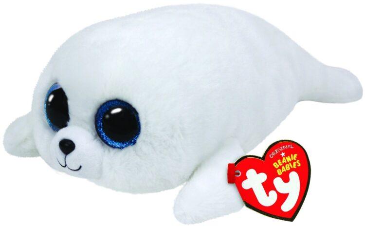 Peluche cucciolo bianco di Foca TY 15 CM
