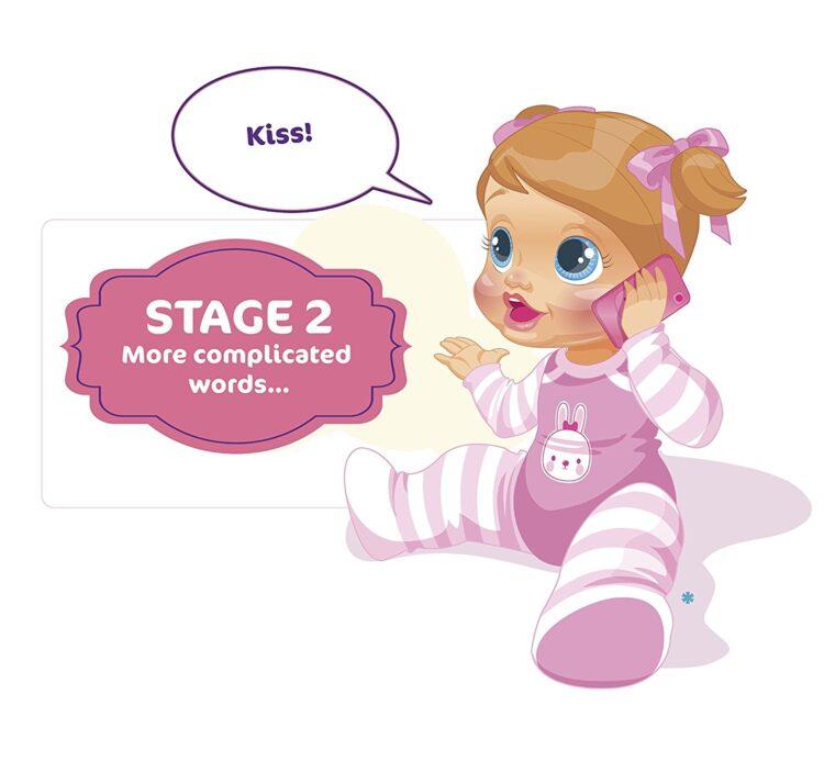Bambola Baby Wow Tea interattiva impara a parlare