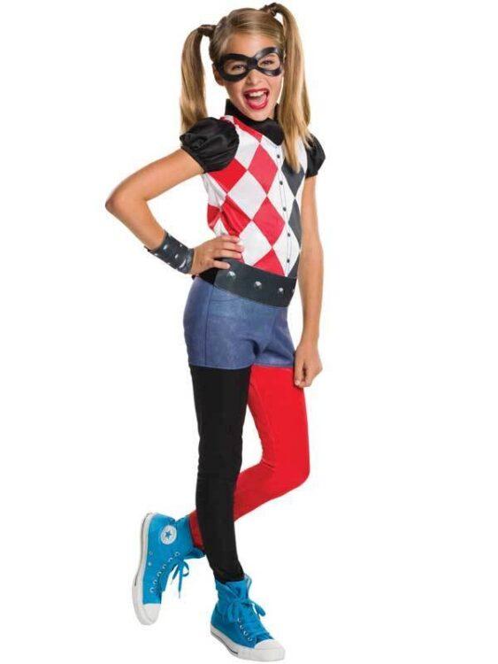 Costume bambina Harley Quinn 5-7 anni
