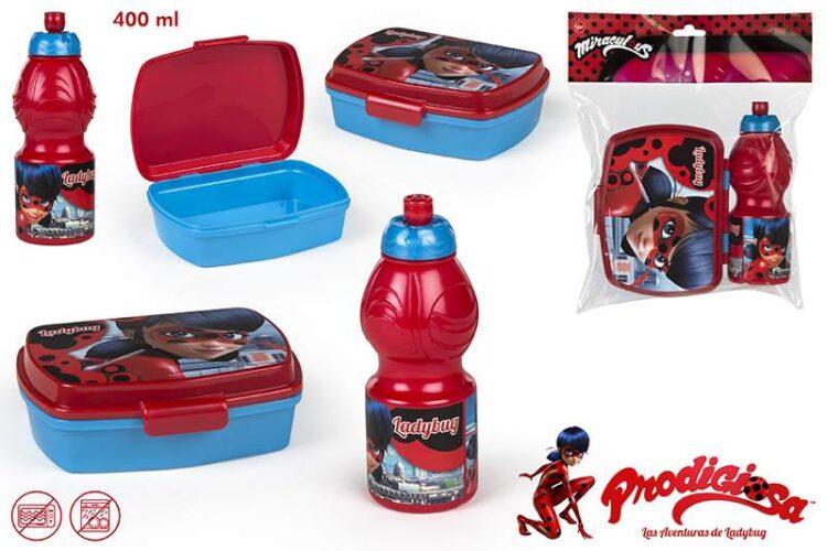 Miraculous Ladybug Lunchbox e borraccia