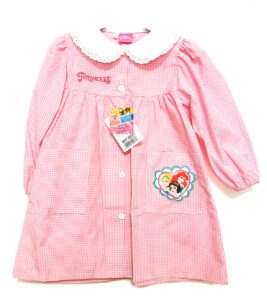 Disney Princess Grembiule asilo quadrettato rosa