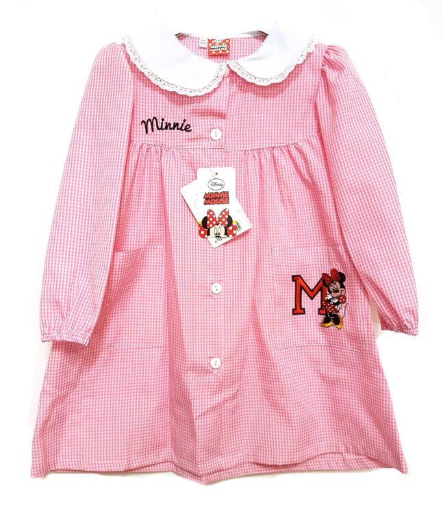 Disney Minnie Grembiule asilo quadrettato rosa