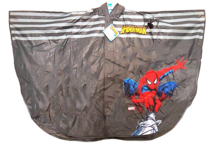 Mantella impermeabile con cappuccio Spiderman