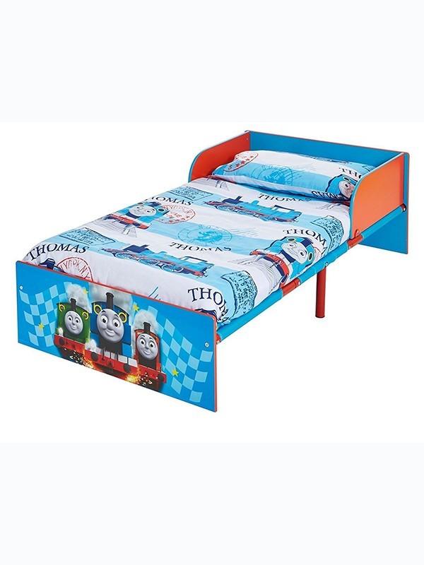 Hello Home 505THK Il Trenino Thomas Lettino per Bambini Blue Legno 143 x 77 x 42.5 cm