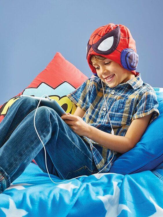 Spiderman Cappello con Cuffie audio incorporate
